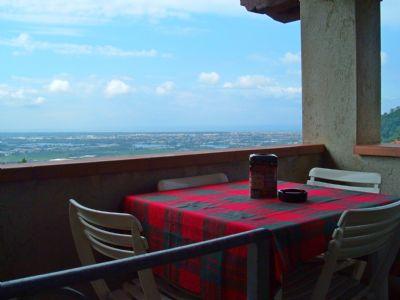 Panorama Ferienwohnung mit Meerblick für 6 Personen in der Toskana