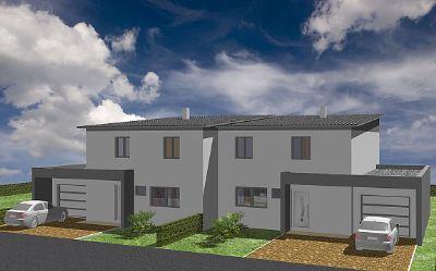 doppelhaush lfte mit garage ausbauhaus ohne grundst ck keller bodenplatte 4403. Black Bedroom Furniture Sets. Home Design Ideas