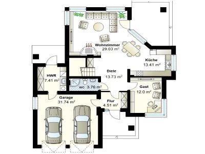 Expose leider nicht mehr vorhanden for Einfamilienhaus grundriss mit doppelgarage