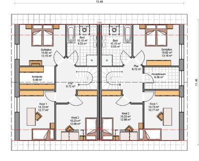 250 m doppelhaus schl sselfertig auf ihrem grundst ck. Black Bedroom Furniture Sets. Home Design Ideas